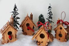 bird house ornaments