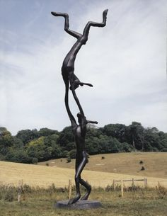 """30ft Acrobats"" (2003) by Barry Flanagan"