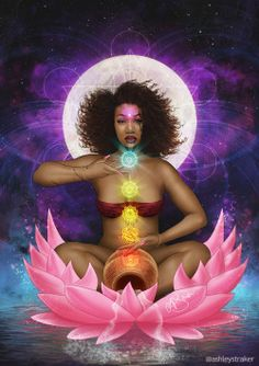 icu ~ Pin on _Art_ ~ The origins of the History Of Black Self-Hatred in the inferiority seed from the racialised styling of Black Hair during Slavery Lotus Painting, Black Art Painting, Black Artwork, Black Love Art, Black Girl Art, Art Girl, Black Goddess, Goddess Art, Goddess Symbols