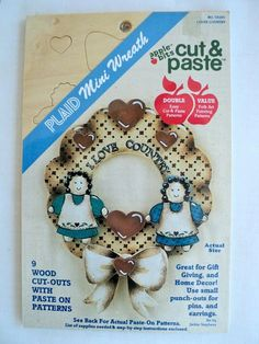 Unfinished Wood Cutouts Mini Wreaths Cut & by DocksideDesignsEtc