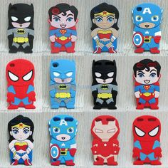 Cute Hero Series Superman Batman Soft Case Cover For iPod Touch 4 4TH 5 5TH Gen
