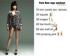 Park Bom legs workout