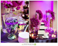 Lauberge Del Mar Wedding-purple, black and white