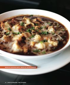 French Onion Soup.  #french #onion #soup #visalia #lifestyle #magazine #recipe