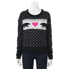 SO® Patterned Sweater - Juniors