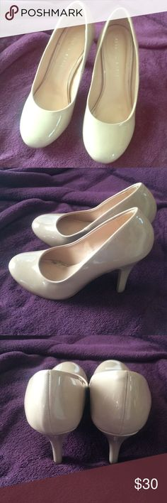 nude pumps rounded toe nude patent pumps. size 7.5. great condition. worn once for a wedding as a bridesmaid. they were a bit small on me. i have original box. Kelly & Katie Shoes Heels