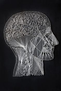 Alan Dindo is an artist based in Rome: string and nails - Brain and Nervous System - WIRES ON YOU