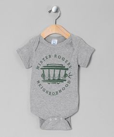 Take a look at this Gray 'Mr. Rogers' Trolley Bodysuit - Infant by American Classics on #zulily today!