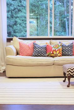 diy- pillow covers (mom? this is a job for you)