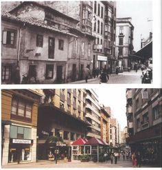 Calle Palacio Valdés. Antes y después