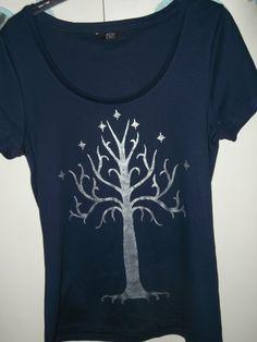 Tree of Gondor hand painted t-shirt, woho