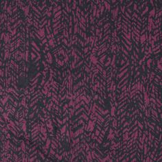 "Black Abstract Vines on Sangria Cotton Spandex Knit Fabric - A super high quality cotton spandex knit in a deep sangria red with a black abstract vine print.  Fabric has a great 4 way stretch and snappy recovery, mid weight.  Vines about 1"". :: $6.50"