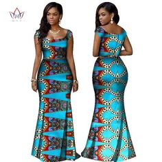 Image of BRW 2017 African Print Two Piece Set Dashiki African Clothes for Women Bazin Square Collar Sleeveless Crop Skirt and Top African Lace Dresses, African Wedding Dress, Latest African Fashion Dresses, African Dresses For Women, African Print Fashion, Africa Fashion, African Attire, African Wear, African Clothes