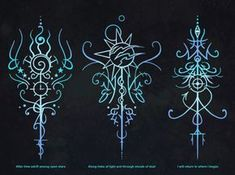 "sigilseer: ""These sigils were commissioned to represent a quote from Mass Affect 2. They won't have a practical use for most people, but I wanted to share them anyway because I'm happy with how they came out. """