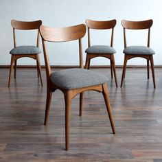 Set of 4 vintage dining chairs, 72136 is part of Vintage dining chairs - Sold Set of 4 vintage dining chairs, 72136 Vintage Dining Chairs, Wooden Dining Chairs, Mid Century Dining Chairs, Dining Room Chairs, Office Chairs, Furniture Chairs, Retro Furniture, Kitchen Chairs, Restaurant Furniture