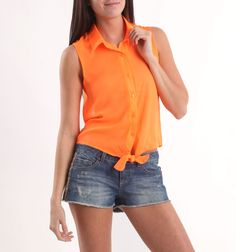 This with high waisted shorts...yes please!