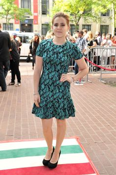 "(WHAT?)   BEST: ""Parenthood"" star Mae Whitman also looked gorgeous at the ""Perks of Being a Wallflower"" premiere in a green Opening Ceremony dress. Where can we get it?"