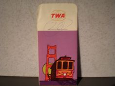 Vintage 1970's TWA Airlines Boarding Pass Holder - San Francisco by 20thCenturyCool on Etsy