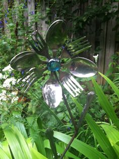 recycled yard art - Google Search