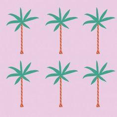 Palm tree illustrations via @Bri Turpin emery / designlovefest