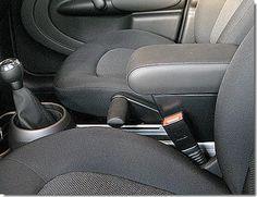 MINI COUNTRYMAN Adjustable Armrest with large storage in black Eco leather