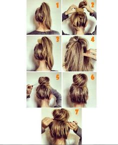 Easy Hairstyles for Work - Easy Bun - Quick and Easy Hairstyles For The Lazy Girl. Great Ideas For Medium Hair, Long Hair, Short Hair, The Undo and Shoulder Length Hair. DIY And Step By Step - https://thegoddess.com/easy-hairstyles-for-work