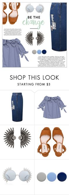 """""""Be the Change"""" by shambala-379 ❤ liked on Polyvore featuring Miu Miu, Linda Farrow and Burberry"""
