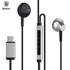Baseus B51 USB Type C In-Ear Earphone With Microphone Heavy Bass Stereo Type-c Headset For Huawei P9 Xiaomi 5 Letv 2 Earbuds