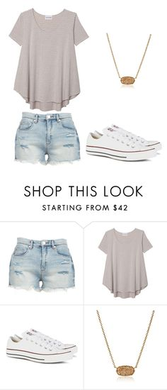 """Summer teen outfit"" by jillianmoreland ❤ liked on Polyvore featuring BLANKNYC, Olive + Oak, Converse and Kendra Scott"