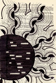 found poetry & zentangle