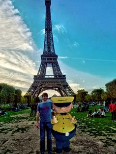 Me and Chuck at the Eiffel Tower - who knew he was such an International Man of Mystery!