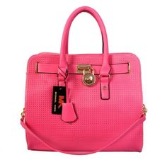 Michael Kors Perforated Large Pink Totes Outlet