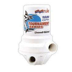 Rule Tournament Series Livewell Aerator Pump 1600 GPH 209FDP - https://www.boatpartsforless.com/shop/rule-tournament-series-livewell-aerator-pump-1600-gph-209fdp/
