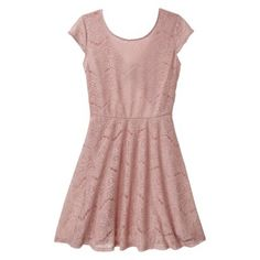 Junior& Open Back Lace Dress - Assorted Colors in pale muave Grad Dresses, Blush Dresses, Lace Bridesmaid Dresses, Bridesmaids, Skirt Outfits, Dress Skirt, Lace Dress, Cute Outfits, Girly Girl