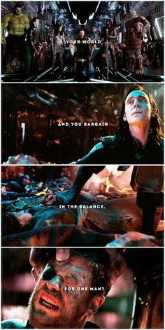 """And what will you do if I vow to spare him?""  #thor odinson #loki laufeyson"