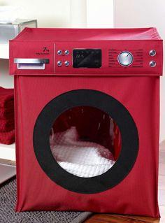 le panier linge machine laver rouge vif accessoires de salle de bains - Accessoire De Salle De Bain Rouge