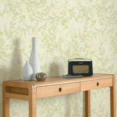 Mayfield Wallpaper in Yellow with a Metallic finish by Colours