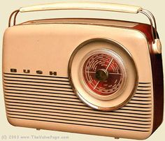 Bush portable Radio I had one of these for my ninth birthday in 1975 off my grand father. I loved that radio Radio Record Player, Record Players, Tvs, Vintage Love, Retro Vintage, Vintage Music, Vintage Decor, Retro Design, Vintage Designs