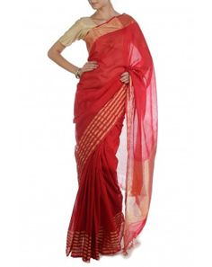 Red Saree by PDS