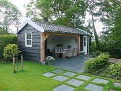 tuingebouw met veranda