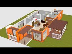 Casas Con Contenedores Marítimos (ingeniería moderna) - YouTube