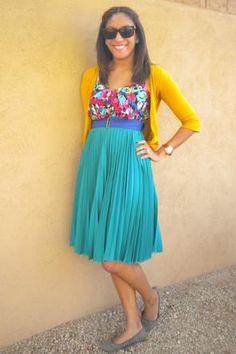 colorful and pretty spring outfit