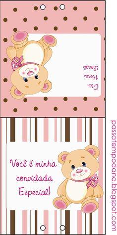 Passatempo da Ana: Mini kit: Ursinha (marrom e rosa)