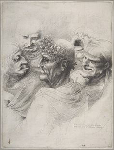 """Five Grotesque Heads"" by Leonardo da Vinci"