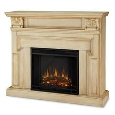 Real Flame Kristine 46 In Electric Fireplace In Antique White