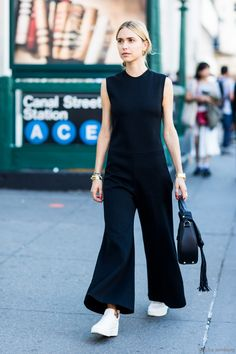 Pernille Teisbaek in Céline shoes and Altuzarra Bag  - during NYFW Spring 2016 | A Love is Blind - photo by Sandra Semburg - Bxy Frey