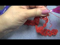 Adding a new shuttle thread. Tatting over the tails of both the old and the new thread. Lock/Shuttle Join shown at end of video. pattern can be found a. Needle Tatting, Tatting Lace, Tatting Tutorial, Diy Crafts How To Make, Tatting Jewelry, Tatting Patterns, Headbands, Needlework, Knit Crochet