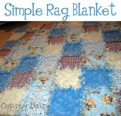 Easiest Rag Blanket ever! | Oopsey Daisy