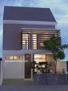 a: Rumah bergarasi di lahan 7 x 16,5 m2 [desain siap pakai kode 012]