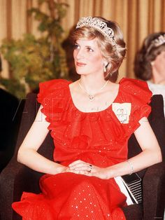 March 30, 1983: Princess Diana attending a reception at The Wrest Point Hotel in Hobart, Tasmania, during an Official Tour Of Australia.